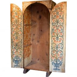 17th Century Painted Sacristi Cabinet from Spain