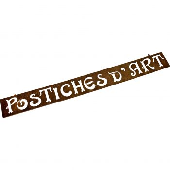 Vintage French sign 'Postiches'
