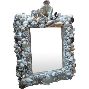 Vintage Seashell framed Mirror from Scotland