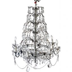 Vintage Waterfall Chandelier from Italy