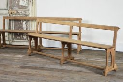 Pair of French church pews/benches