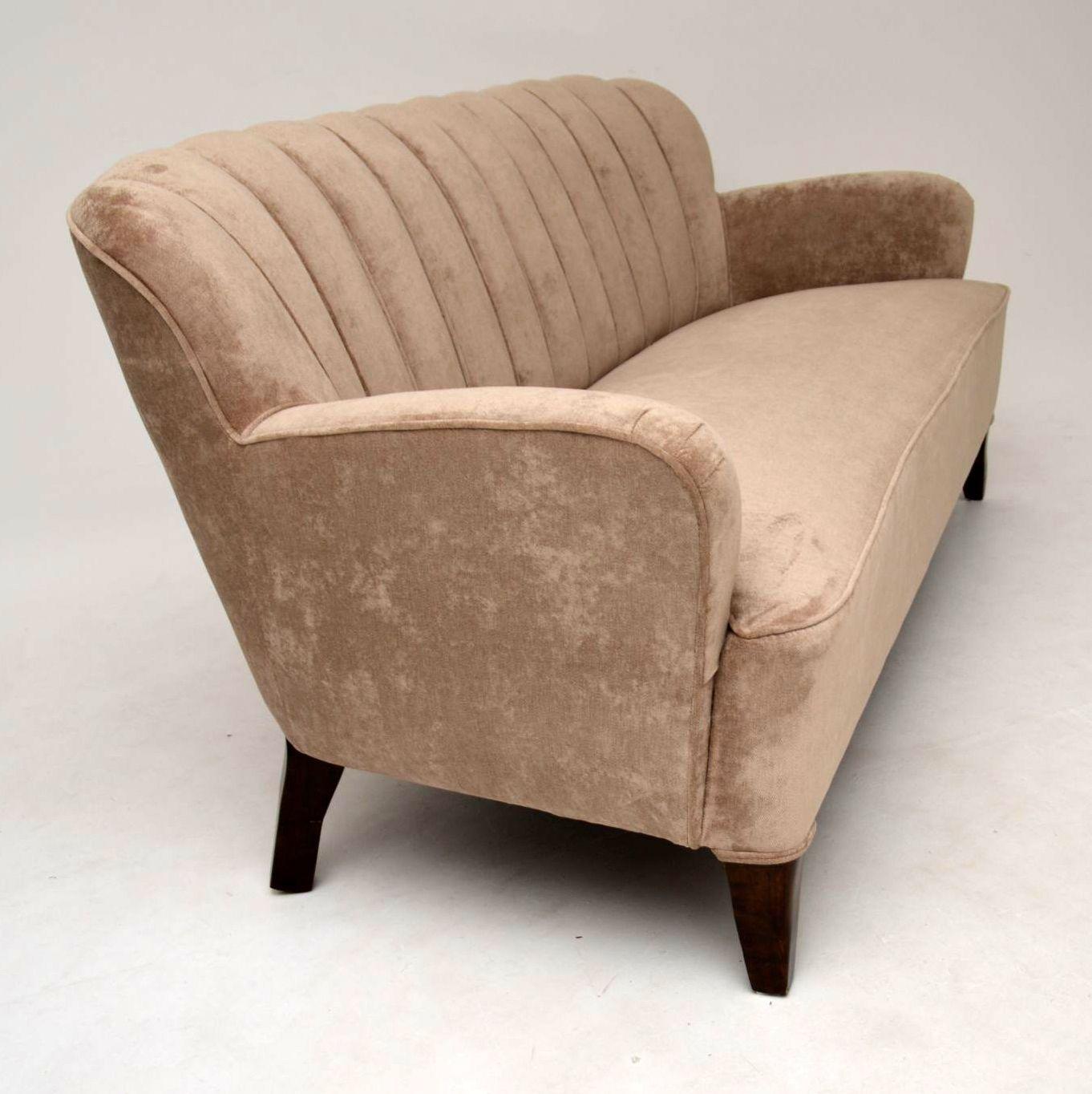 Art Deco Swedish Scalloped Back Sofa Interior Boutiques