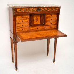 Antique Swedish Marble Top Secretaire Cabinet