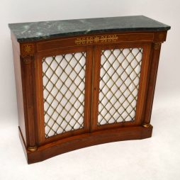 Antique Inlaid Rosewood Marble Top Cabinet – Sideboard Chiffonier