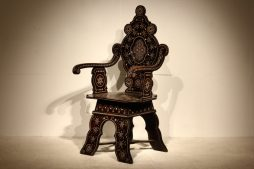 19th Century Italian Inlaid Chair