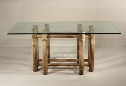 20th Century Glass Top Dining Table