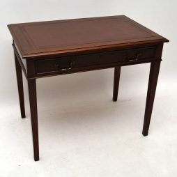 Antique Edwardian Mahogany Writing Table / Desk