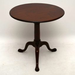 Antique George III Mahogany Birdcage Tripod Table
