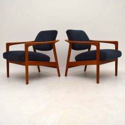 1960's Pair of Swedish Retro Armchairs by Folke Ohlsson for Dux
