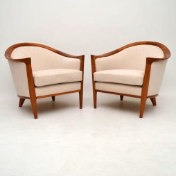 1960's Swedish Retro Teak Armchairs by Bertil Fridhagen