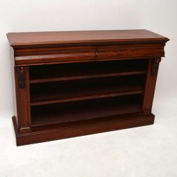 Antique Mahogany Open Bookcase Cabinet