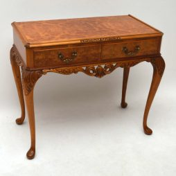 Antique Burr Walnut Console / Side Table