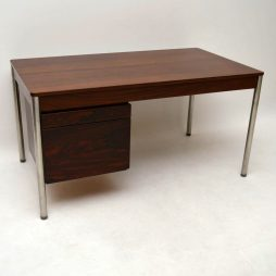 Retro Rosewood & Chrome Desk by Archie Shine Vintage 1960's