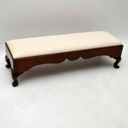 Antique Edwardian Mahogany Foot Stool
