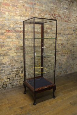 1920s Mahogany Shop Display Cabinet