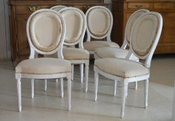 Set of 6 Medallion back dining chairs