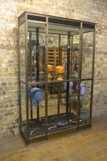 Bronze 1930s Shop Display Cabinet
