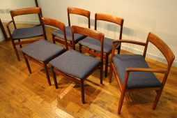 SET OF 6 A YOUNGER ROSEWOOD DINING CHAIRS JOHN HERBERT