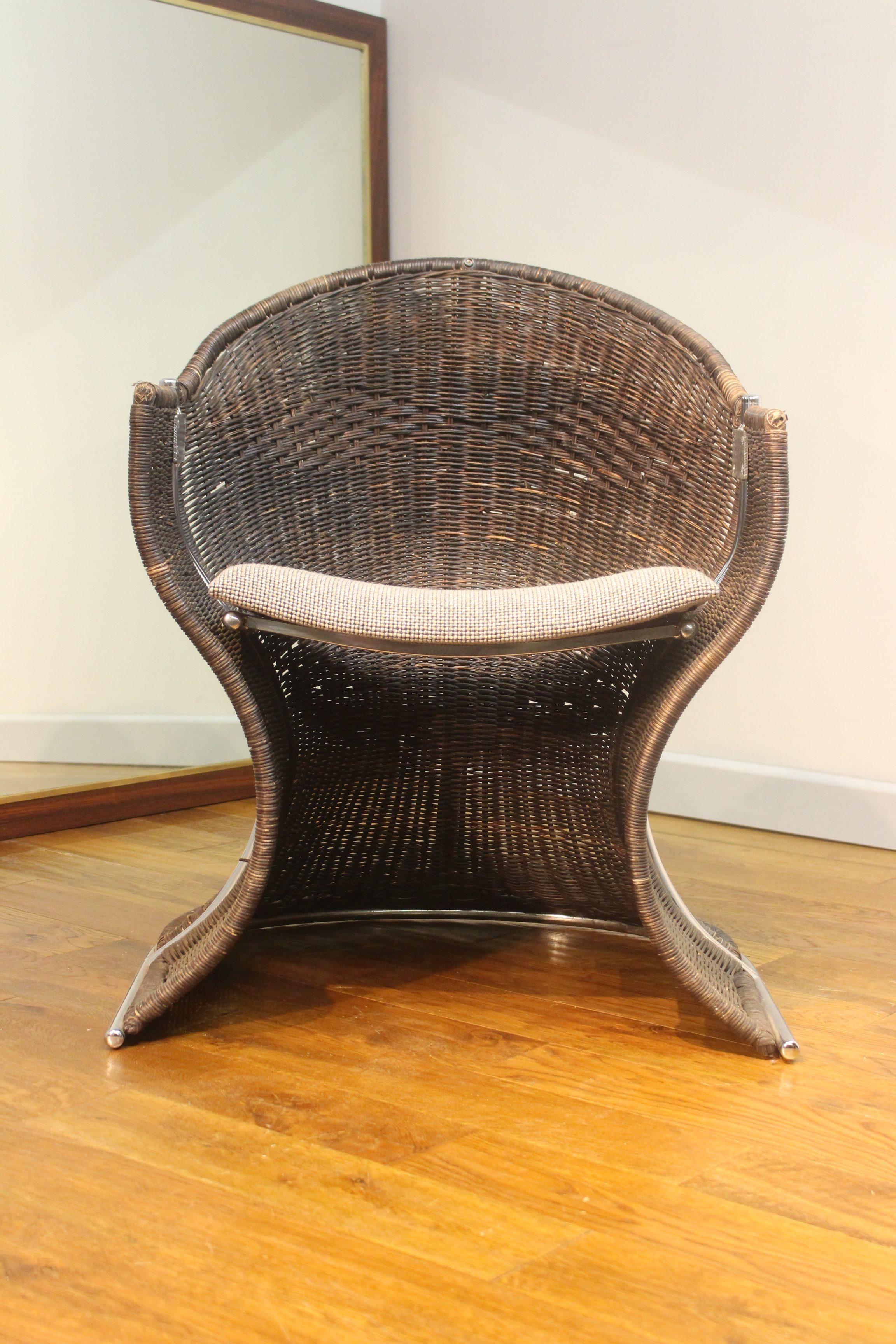 Rare Pieff Venus Wicker Chairs Interior Boutiques