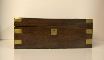 Victorian Rosewood Brass Bound Writing Slope