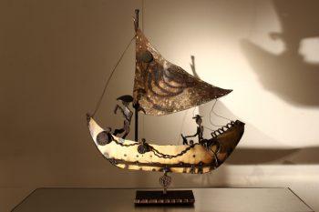 Decorative Metal Boat