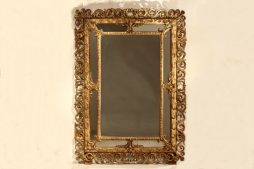 Large 19th Century French Cushion Mirror