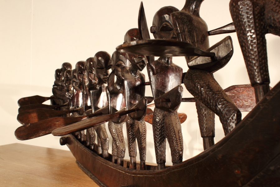 1970s Large African Boat Carving Interior Boutiques Antiques For Sale And Mid Century Modern