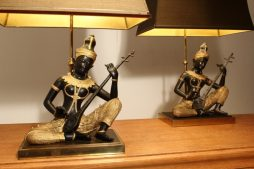 1960s Pair Of Buddha Lamps