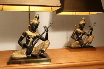 1960s Pair Of Buddha Lamps