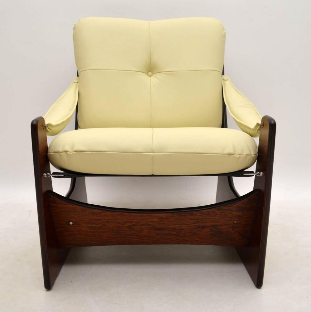 Retro Rosewood Leather Armchair Vintage 1960's   Interior ...