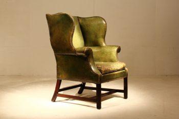 18th Century English Leather Armchair
