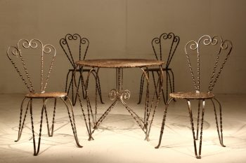 1950s French Table And Chairs Set