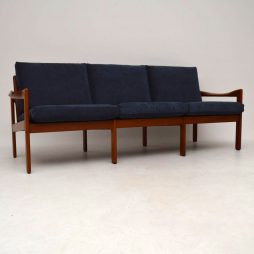 1960's Danish Teak Vintage Sofa by Illum Wikkelso for Niels Eilersen