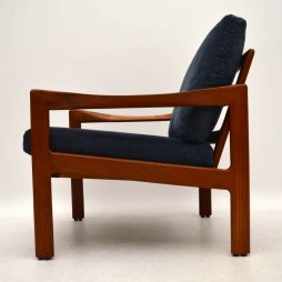 1960's Danish Teak Vintage Armchair by Illum Wikkelso for Niels Eilersen