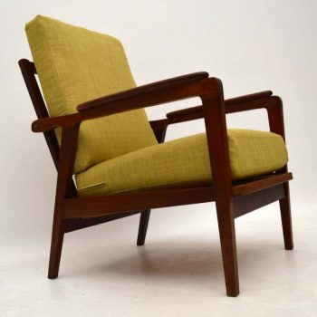 1960's Danish Teak Reclining Armchair
