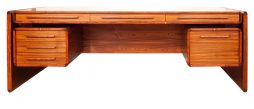 MID CENTURY ROSEWOOD EXECUTIVE DESK DYRLUND SMITH
