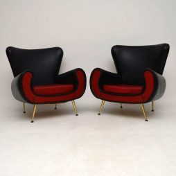 Pair of Italian 1960's Vintage Armchairs