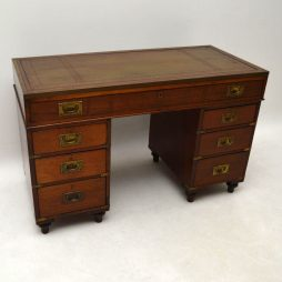 Antique Mahogany Military Campaign Desk
