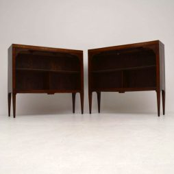 Pair of Antique Swedish Inlaid Rosewood Bookcases