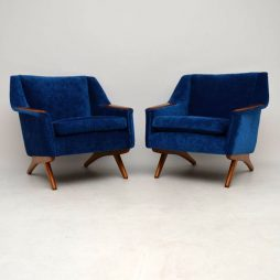 1960's Pair of Scandinavian Vintage Armchairs by Westnofa