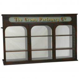Victorian Antique 19th Century Three Door Pharmacy Cabinet