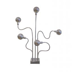 Chrome floor lamp - Hydra by Pierre Folie