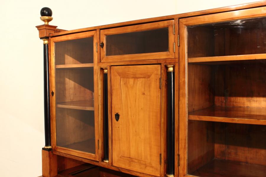 Th Century Writing Bureau And Glass Cabinet