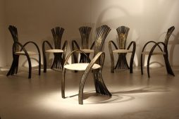 Set Of Six Jacques Duval Brasseur Chairs
