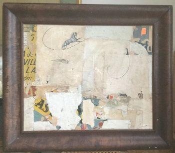 Fine Collage Featuring Beautiful Antique Papers by Huw Griffith