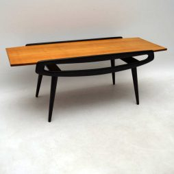 Vintage 1950's Italian Coffee Table in Sycamore & Ebonised Wood