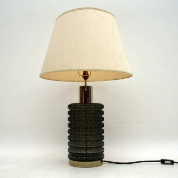 1960's Vintage Glass Table Lamp