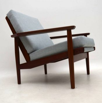 1960's Danish Vintage Armchair in Afromosia