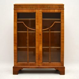 Antique Walnut Two Door Bookcase