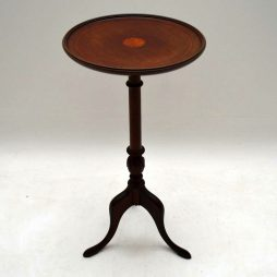 Antique Edwardian Inlaid Mahogany Wine Table